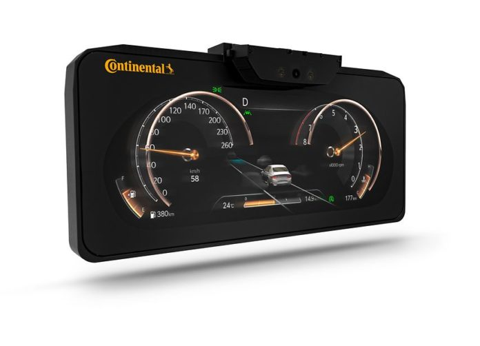 3D instrument cluster by Continental
