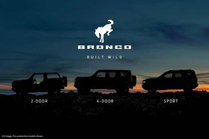 2021 Ford Bronco to be revealed on 13 July 8pm
