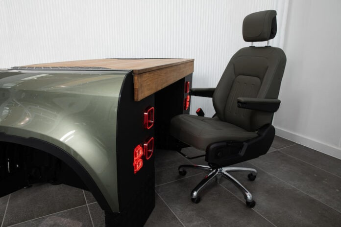 Land Rover Defender desk and chair